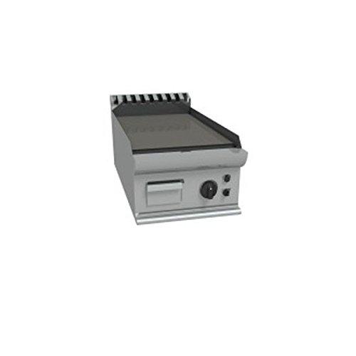 Fry Top à gaz à meuler Plaque lisse en acier douce poli – Dim. CM 40 x 70 x 27H