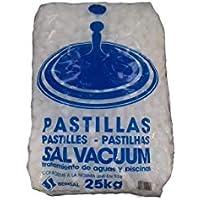 Sal Descalcificadora 25kg pastillas Redondas, más 1kg sal para lavavajillas de regalo