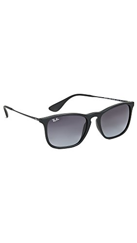 Ray-Ban Men's Chris Sunglasses, Rubber Black/Gradient Grey, One Size