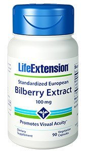 2-pack Standardized European Bilberry Extract, 100 mg, 90 vegetarian capsules by Apran