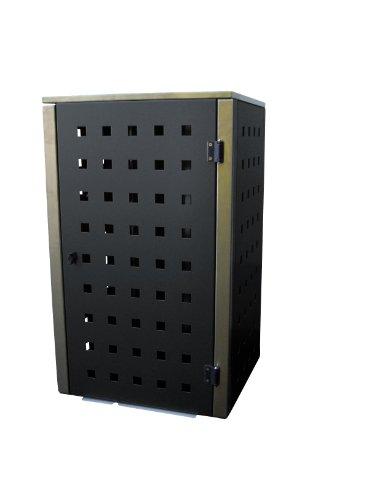 Mülltonnenbox Metall, Modell Eleganza, 120 Liter, Viererbox, in RAL 7016 Anthrazitgrau - 2