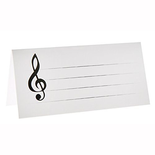 PARTY DISCOUNT Neu Tischkarten Musiknoten, 3x7 cm, 10 ()