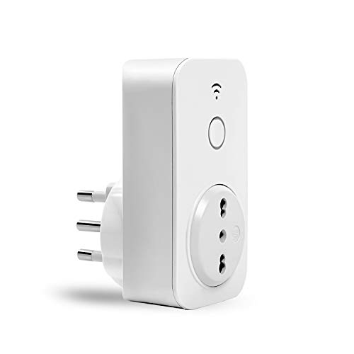 meross Presa Intelligente Wifi Italiana Smart Plug Spina Energy Monitor 16A 3680W, Funzione di Timer Compatibile con Amazon Alexa, Google Assistant e IFTTT, Controllo Remoto via Andriod iOS App