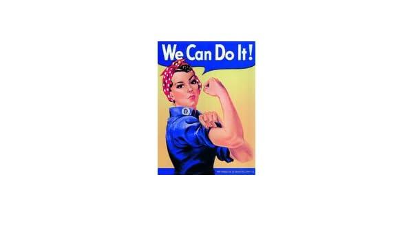 Schild Sign Schilder We can do it Frauenpower Blechschild 20x30 cm gewölbt