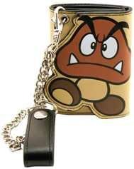 Nintendo Geldbeutel Goomba Geldbörse mit Kette - Super Mario Bros. Tri Fold Wallet