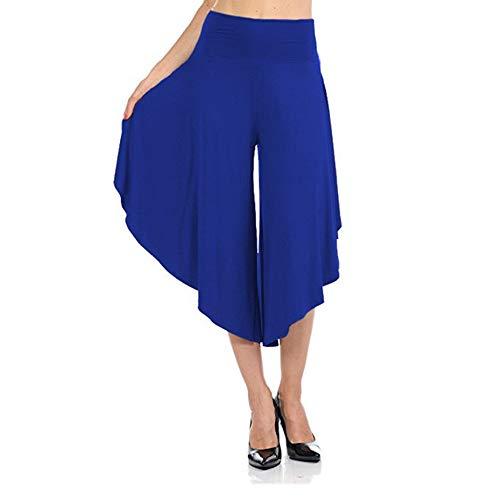 YEHAOFEI Bequeme Kurze Hose für Sommer- und Herbstfrauen, lockere Hose mit weitem Bein und Kurze Yoga-Hose 4 L -