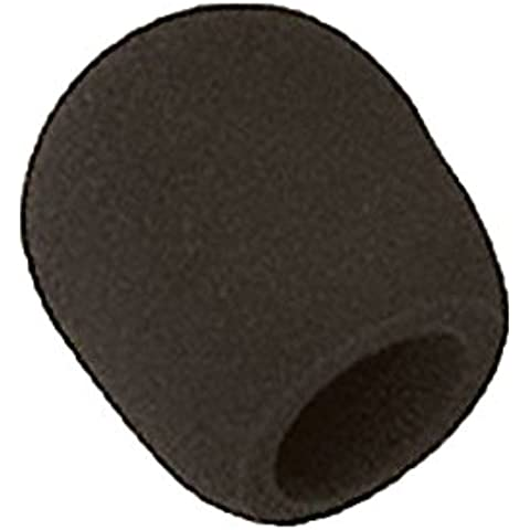 niceeshop(TM) Micrófono Tipo de Bola de Esponja de Espuma de la Cubierta del Parabrisas(Negro)