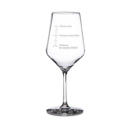 """AMAVEL Weißweinglas mit Gravur – Maßeinheiten – """"Noch nicht"""" – Personalisiert mit..."""