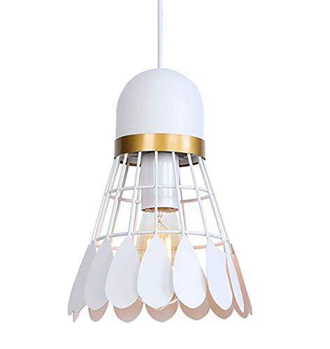 Neuheit Kronleuchter (ZUEN Badminton-schmiedeeisen-kronleuchter Moderne Neuheit Lampe Badminton Eisen Kronleuchter Kinderzimmer-deckenleuchte Innenbeleuchtung,White)