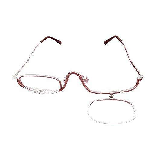 Meijunter Flip Up Frauen Vergrößerungs Makeup Brille Lesebrille+1.00 +1.50 +2.00 +2.50 +3.00 +3.50 +4.00