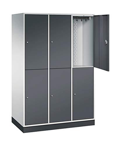 Doppelstöckiger Stahl-Garderobenschrank Intro XL