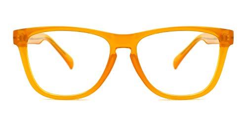TIJN Retro Oversize optische Brillen nicht verschreibungspflichtigen Brillen Rahmen mit klaren Gläsern