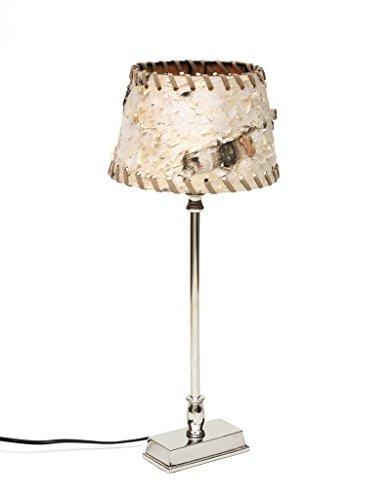 Rinde Wohnzimmer (Design Tischlampe Tischleuchte Lampenschirm Birke Baumrinde Holz Metall Nachttischlampe Edel Silber Schirm Rund Rechteckig Brillibrum Flyer Geschenke Geschenkidee)
