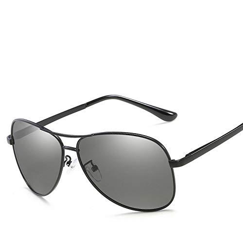 YYXXZZ Sonnenbrillen Photochromic Polarized Sonnenbrillen Herren Classic Pilot Metallrahmen Sonnenbrille Damen Sonnenbrille, dunkelgrau