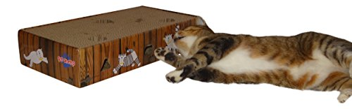ENVIRONMENTALLY FRIENDLY CAT SCRATCHER & ACTIVITY TOY including CATNIP and TOYS 6