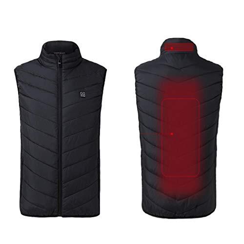 Chalecos Térmicos Interiores de Invierno para Hombres,TT Global Hombres Carga USB Chaleco Eléctrico Lavable Vest Calefactable Eléctrica con Calefacción para Caza Camping Pesca y Terapia de Calefacción