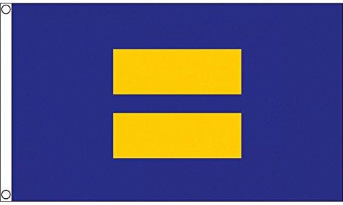 Menschenrechte Kampagne LGBT Gleichheit 5'x3' (150cm x 90cm) Flagge -