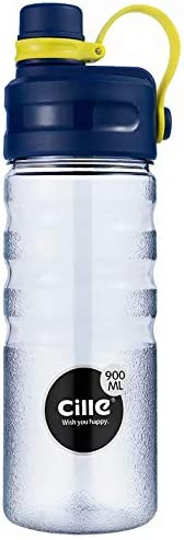 Cille Sports Water Bottles (900 ML) Super Large Capacity with filter, Flex Cap, BPA Free, Leak proof, Convenie
