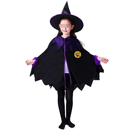 Cute Cosplay Girl Kostüm - Ende der Wüste Halloween Kinderkleidung Cosplay Girl Kostüm Cute Witch Cloak Kindergarten Performance Clothing (Farbe: Purple) (Color : B)