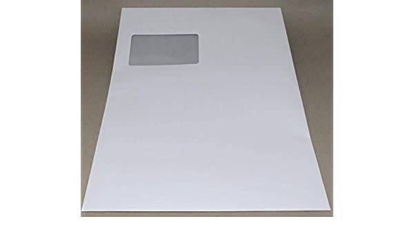 100 Stück dots Briefumschlag C4 mit Fenster weiß Haftverschluss