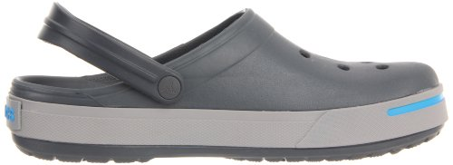 Crocs, Crocband II, Zoccoli e sabot,Uomo Multicolore (Charcoal/Light Grey)