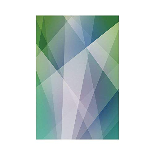 Liumiang Eco-Friendly Manual Custom Garden Flag Demonstration Flag Game Flag,Teal and White,Abstract Triangles Angled Shapes Geometrical Contemporary Futuristic Design Decorative,Multicoloro décor -