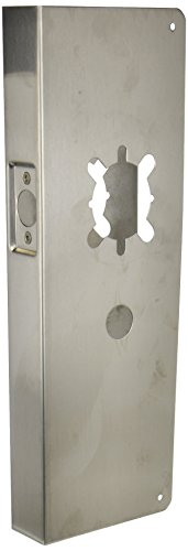Don-Jo 25-CW 22 Gauge Stainless Steel Wrap-Around Plate, Satin Stainless Steel Finish, 5-1/8 Width x 15 Height, For Arrow Revolution and Yale In Touch Lock by Don-Jo