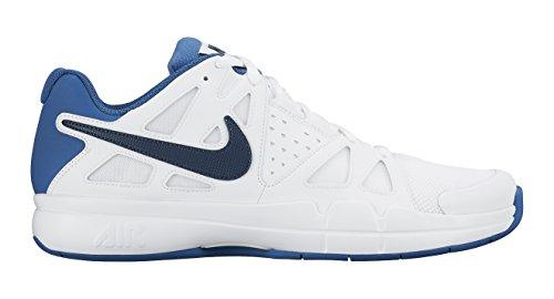 Nike Air Vapor Adavantage Carpet Chaussures de Tennis Homme Blanco / Azul (White / Squadron Blue-Brgd Blue)