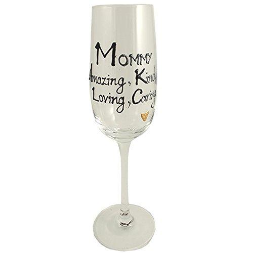 Maman Cadeau Verre à champagne Flute (Noir/argent)