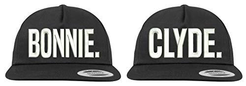 Youth Designz Baseball Kappe Snapback Cap Modell Gangster Paar Set, Schwarz