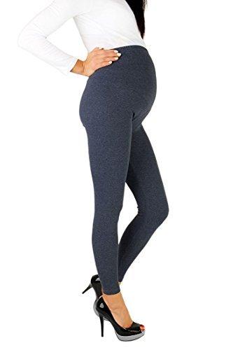 Futuro Fashion - Leggings para embarazadas (algodón, todas las tallas) azul azul vaquero 44/46