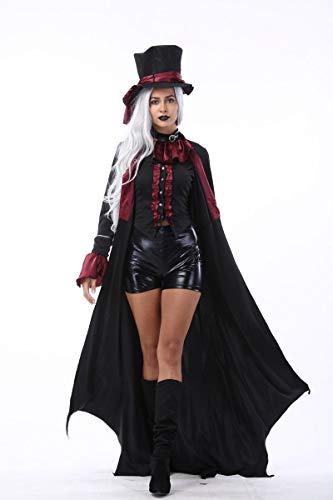 Simmia Halloween Kostüm,Halloween Kostüme für Männer und Frauen Earl Vampir Nachtclub Teufel Geladen Zombies, Frauen Modelle, L