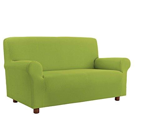 Italian bed linen più bello copridivano bielastico sagomato tessuto a struttura liscia, poliestere, verde mela, 2 posti, 140-180 cm