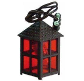 Unbekannt Miniatur Modell Zubehör Laterne Kunststoff rot, 4-eckig, Höhe 4cm