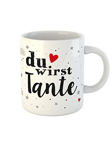 clothinx Kaffee-Tasse mit Aufdruck Geburt Du wirst Tante (Halloween-geschenkideen Für Enkelkinder)