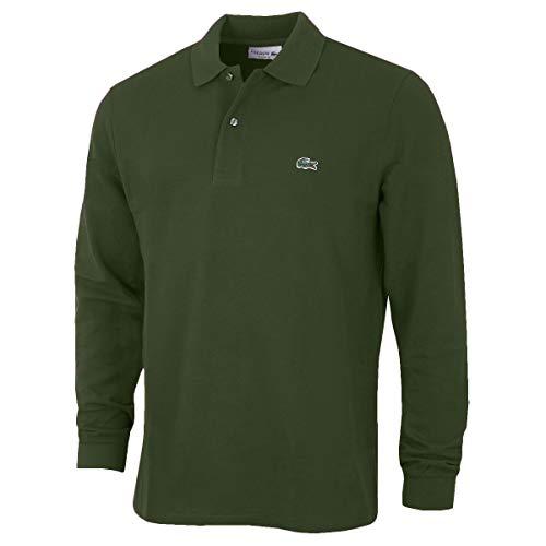 Lacoste Herren Klassische Baumwolle LS L1312-Polo-Hemd - Caper Bush - XL (Lacoste Baumwolle Herren)