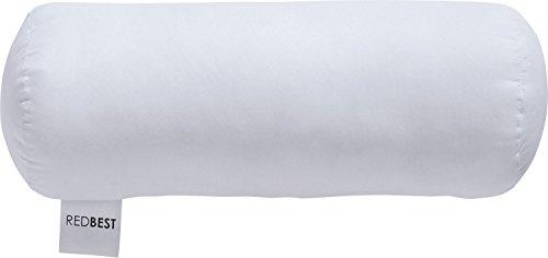REDBEST Nackenrolle Textilfaser weiß Größe 40x15 cm Ø - Feuchtigkeitsabtransport, Liegekomfort mittel, waschbar, allergikerfreundlich -