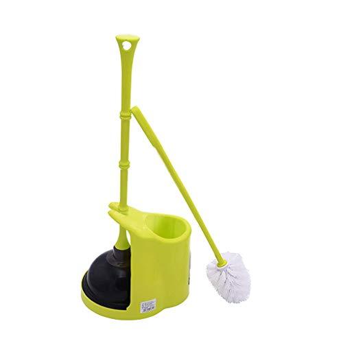 ZTMN Moderne kompakte Kunststoff-WC-Bürste und WC-Kolben Combo-Set mit Halter für WC-Reinigung und WC-Bagger geeignet (Wc-kolben Halter Mit)
