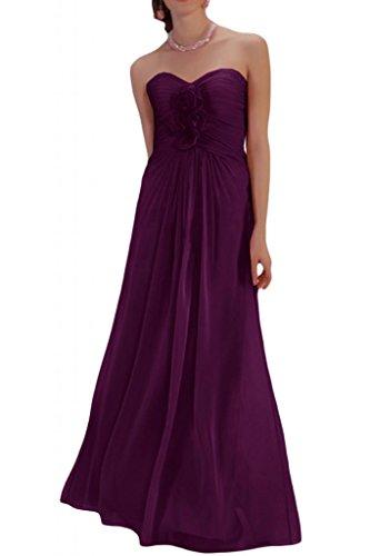 Toscana sposa dall'effetto a forma di cuore a forma di fiore abiti da sposa giovane Chiffon la sera per lontano un'ampia Party ball vestimento Uva