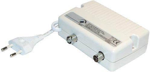 Transmedia FP1L Antennenverstärker (Pegelsteller, Netzteil, Verstärkung 25dB, Pegelsteller 0-10dB, Frequenzbereich 40-862MHz)