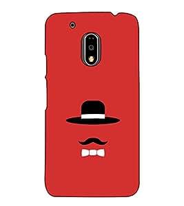 Fuson Designer Back Case Cover for Motorola Moto G4 :: Moto G (4th Gen) (The hat and the mustach theme)