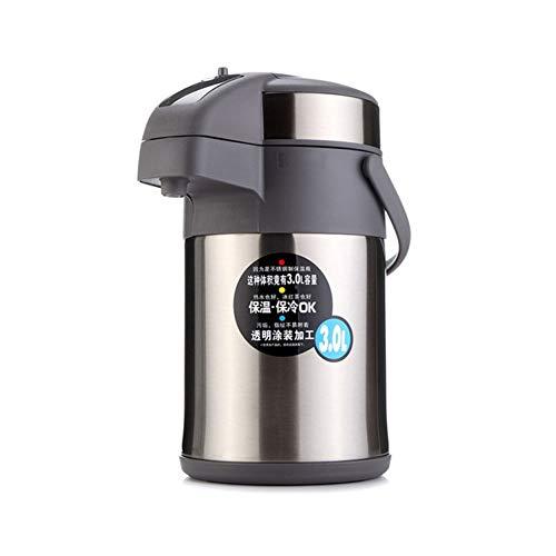 Thermoskanne Thermosflasche, Pumpkanne Kaffee Und Teekanne Airpot, Edelstahl Hohe Kapazität Vakuum Isolierte Für Das Home Office Hotel (3.0L)