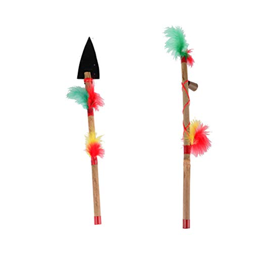 Amosfun 2pcs Indian Costume Props indischen Karneval Party Favors Supplies Geschenke