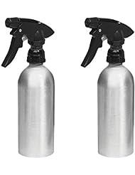 mDesign vaporisateur vide (lot de 2) ? pulvérisateur remplissable en aluminium pour la maison et le jardin ? idéal comme vaporisateur plantes ? métal brossé / noir
