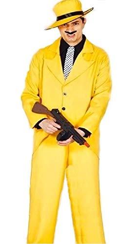 hre Gangster die Maske 1990s Comedy Tv Film Halloween Kostüm Kleid Outfit - Gelb, Medium ()