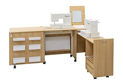 Comfort 3 | Mueble para máquina de coser | (Beech Ellmau, L (Air-Lifter 15kg))