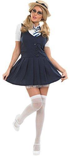 St Trinians School Girl Fancy Dress Costume Outfit with Hat UK 8-30 Plus Size (UK 8-10) by NA (School Girl Plus Size Kostüme)