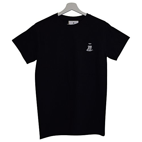 Actual Fact Pulp Fiction x MIA Wallace Cocaine Embroidered Black Tee T-Shirt (Small - XXL)