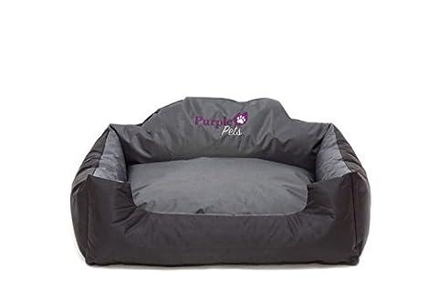 Purple-Pets Lit chien moderne, Lit chat, Panier chien, Matelas pour chien, Corbeille pour chat, Lit (Il Nero Ovale Carrello)