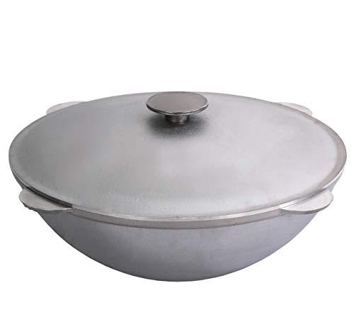 Free2buy Camping-Kochgeschirr aus Aluminiumguss mit Deckel für traditionelles usbekisches Plov (12,7 qt (12 l) - Farberware 12